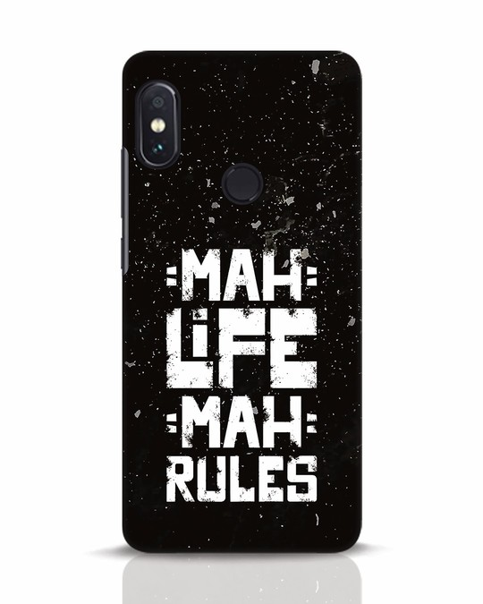 Shop Mah Life Mah Rules Xiaomi Redmi Note 5 Pro Mobile Cover-Front