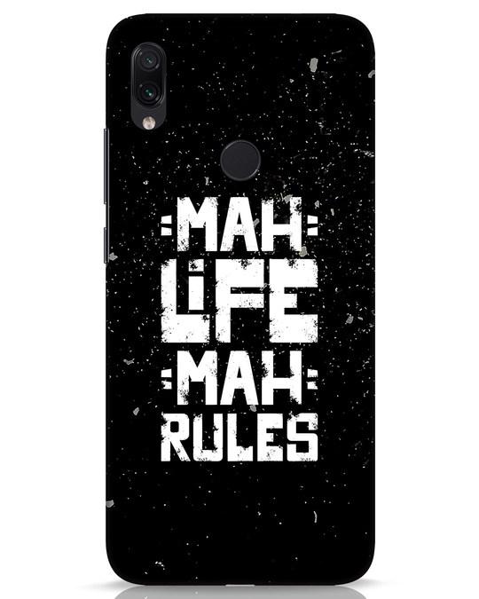 Shop Mah Life Mah Rules Xiaomi Redmi Note 7s Mobile Cover-Front