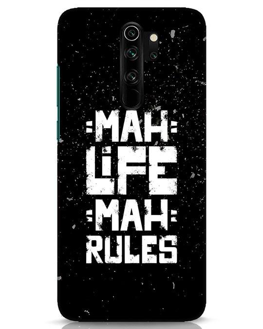 Shop Mah Life Mah Rules Xiaomi Redmi Note 8 Pro Mobile Cover-Front