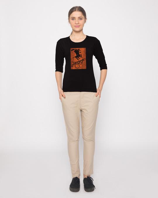 Shop Maharaj Round Neck 3/4th Sleeve T-Shirt