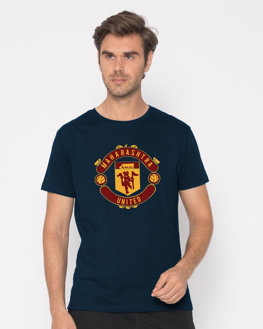 Shop Maharashtra United Half Sleeve T-Shirt-Back