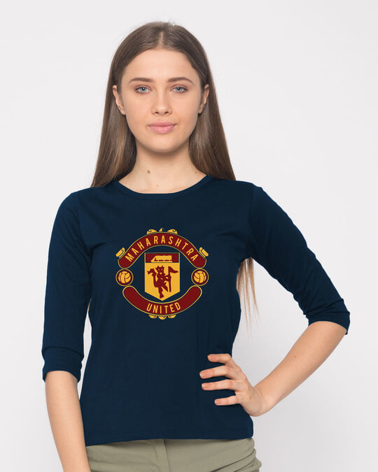 Shop Maharashtra United Round Neck 3/4th Sleeve T-Shirt-Front