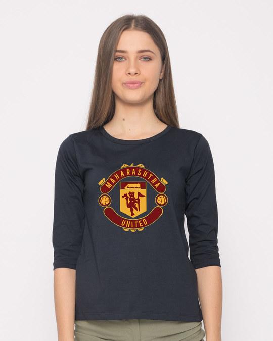 Shop Maharashtra United Round Neck 3/4th Sleeve T-Shirt-Front
