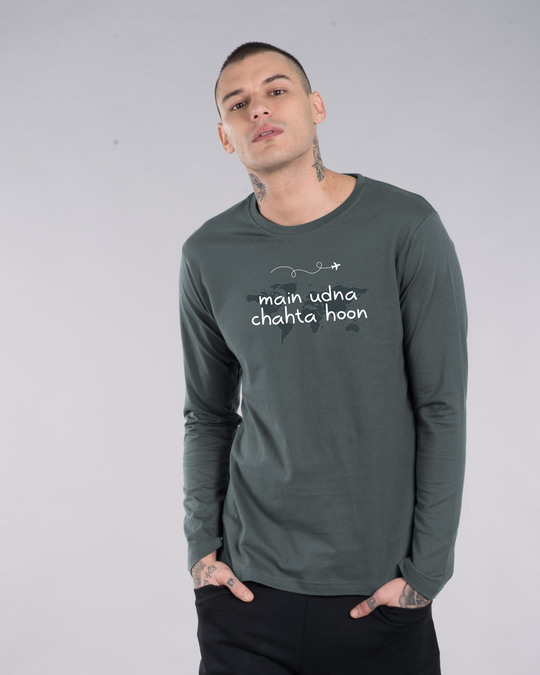 Shop Main Udna Chahta Hoon Full Sleeve T-Shirt-Front