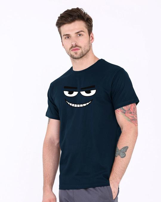 Shop Major Dead Eyes Half Sleeve T-Shirt-Full