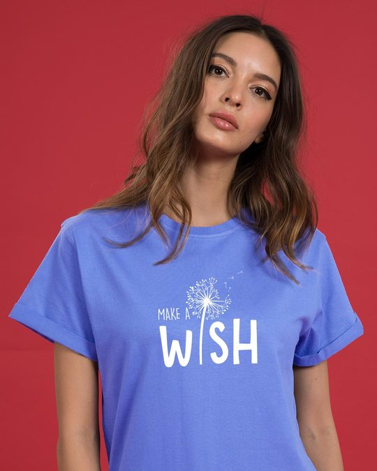 Shop Make A Wish Boyfriend T-Shirt-Front