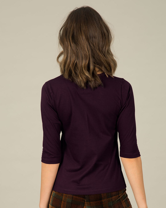 Shop Make A Wish Round Neck 3/4th Sleeve T-Shirt-Back