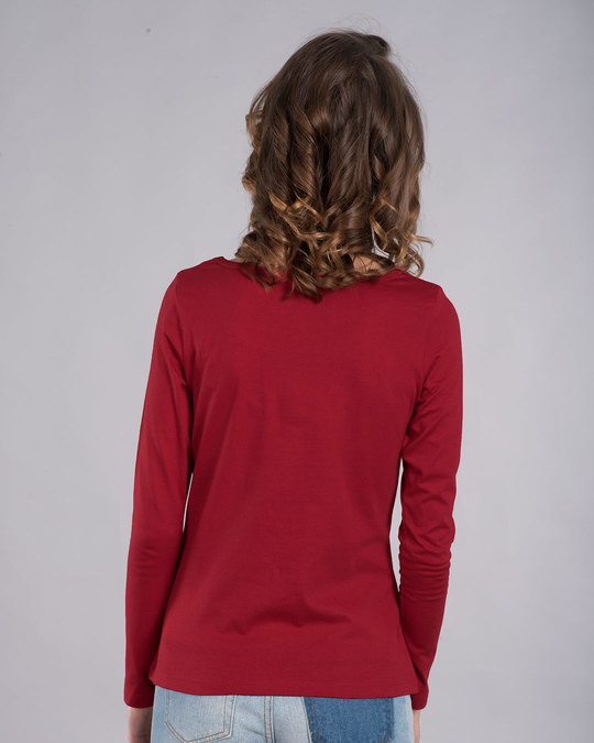 Shop Make A Wish Scoop Neck Full Sleeve T-Shirt-Back