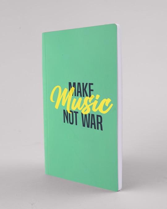 Shop Make Music Not War Notebook-Back