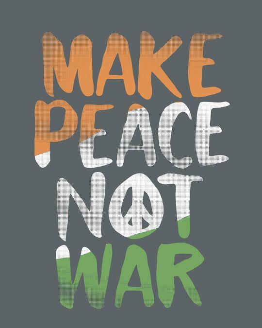Shop Make Peace Tricolor Boyfriend T-Shirt