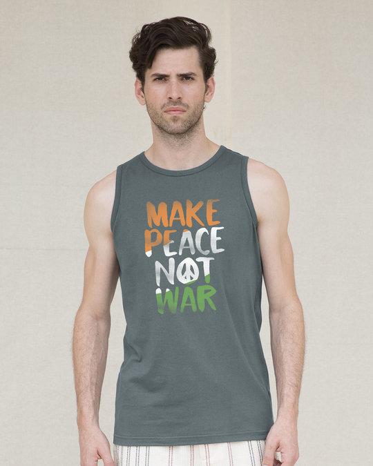 Shop Make Peace Tricolor Vest-Front