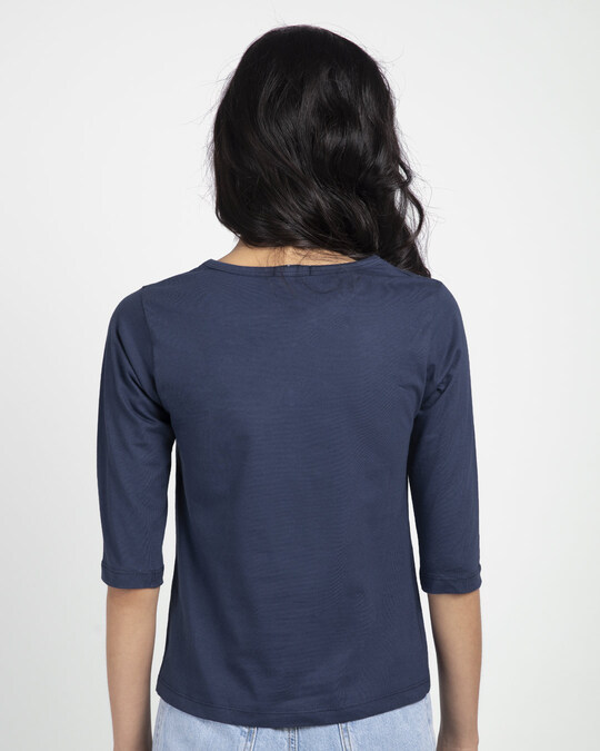 Shop Make Pizz Round Neck 3/4th Sleeve T-Shirt-Back