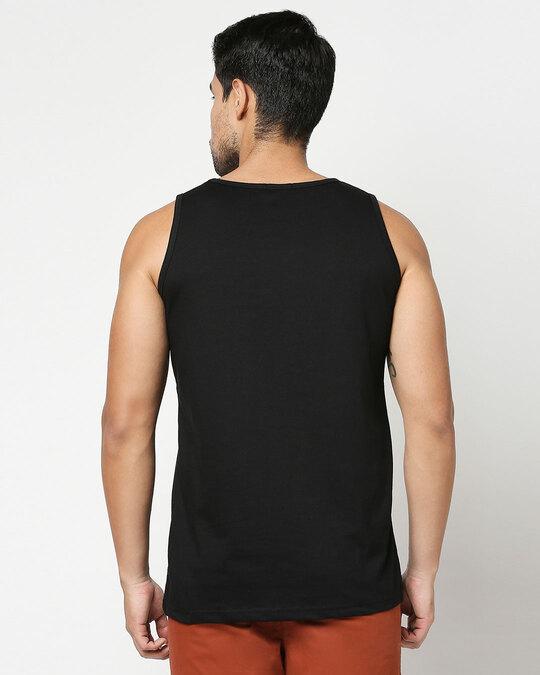 Shop Make Tracks Round Neck Vest Black-Design