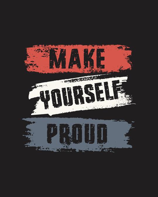 Shop Make Yourself Proud Full Sleeve T-Shirt Black
