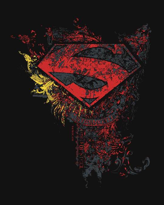 Shop Man Of Steel Emblem Half Sleeve T-Shirt (SL)-Full