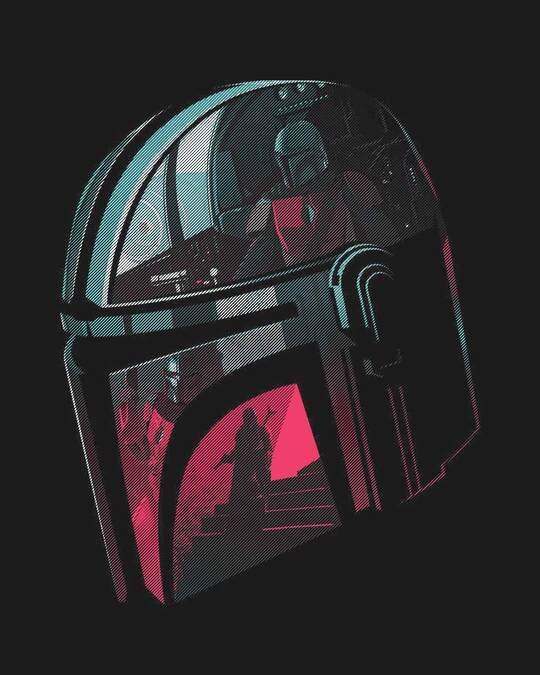 Shop Mandalorian Helmet Full Sleeve T-Shirt (SWL)-Full