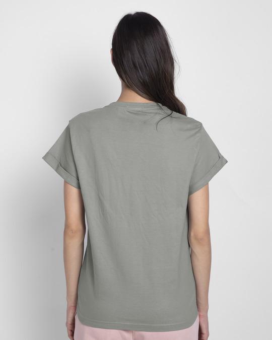 Shop Mandalorian Walking Boyfriend T-Shirt (SWL)-Back