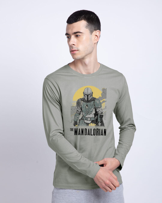 Shop Mandalorian Walking Full Sleeve T-Shirt (SWL)-Front