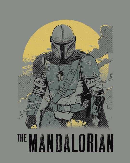 Shop Mandalorian Walking Half Sleeve T-Shirt (SWL)-Full
