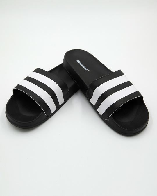 Shop Manhattan Black Stripes Sliders-Front