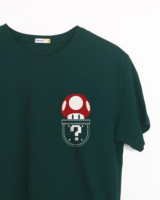 Shop Mario Pocket Half Sleeve T-Shirt-Front