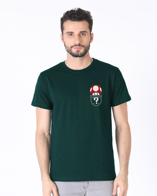 Shop Mario Pocket Half Sleeve T-Shirt-Back