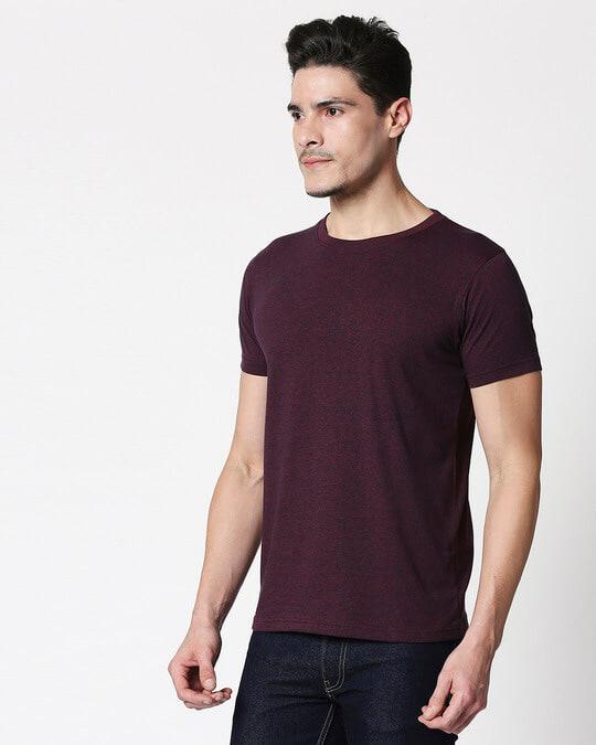 Shop Maroon Half Sleeve Grindle T-Shirt-Design