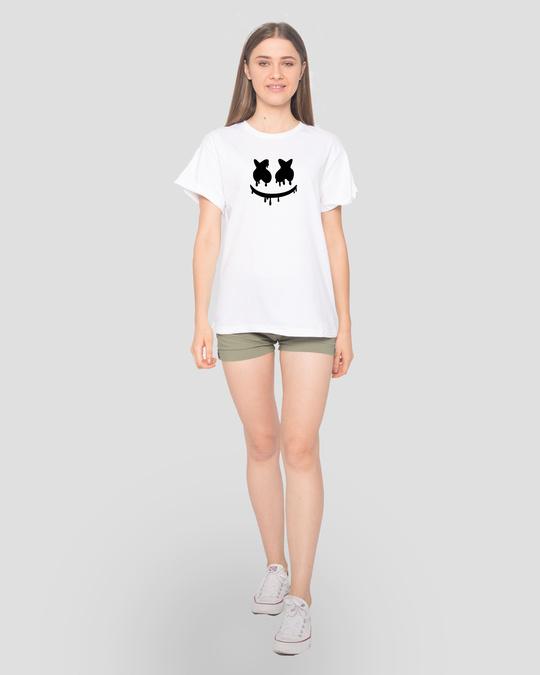 Shop Marshmello Mask Boyfriend T-Shirt