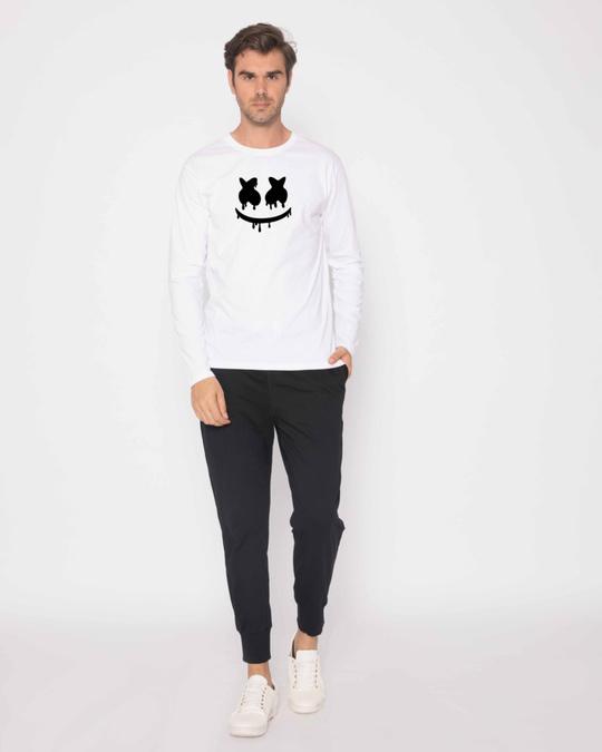 Shop Marshmello Mask Full Sleeve T-Shirt