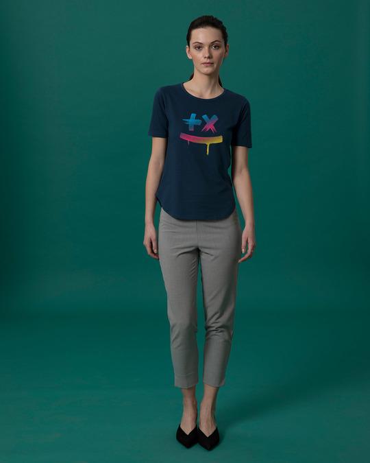 Shop Martin Garrix Colorful Basic Round Hem T-Shirt-Full