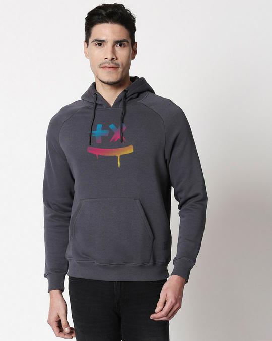 Shop Martin Garrix Colorful Stylised Panel Hoodie Sweatshirt-Back