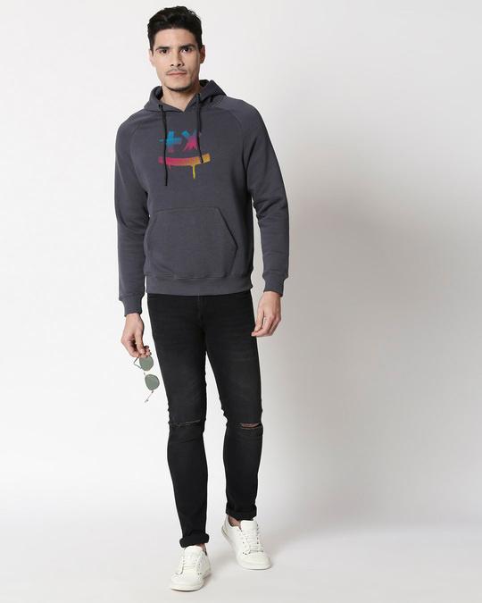 Shop Martin Garrix Colorful Stylised Panel Hoodie Sweatshirt