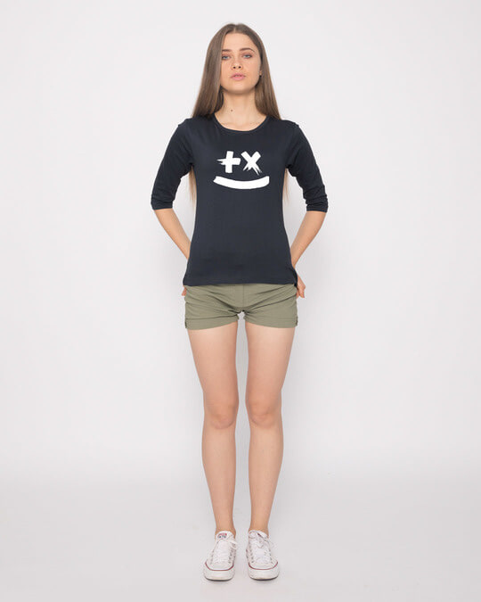 Shop Martin Garrix Round Neck 3/4th Sleeve T-Shirt (GID)