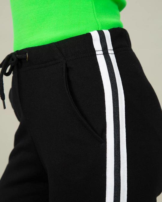 Shop Marty Stripes Fleece Sports Trim Joggers