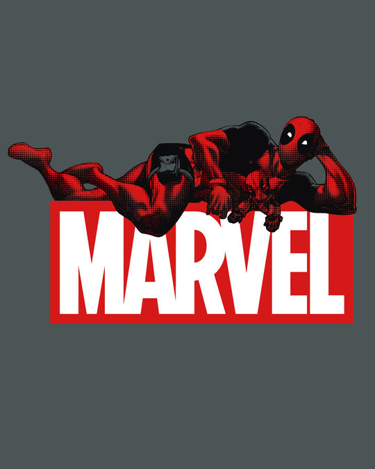 Shop Marvel Deadpool Fleece Light Sweatshirt (DPL)-Full