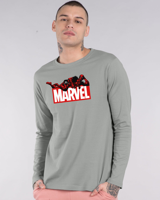Shop Marvel Deadpool Full Sleeve T-Shirt (DPL)-Front