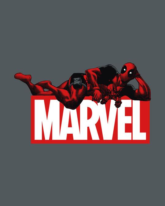 Shop Marvel Deadpool Half Sleeve T-Shirt (DPL)-Full