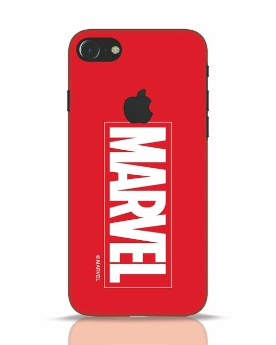 Shop Marvel iPhone 7 Logo Cut Mobile Cover (AVL)-Front