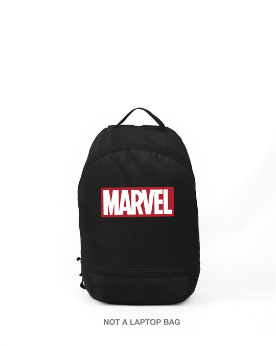 Shop Marvel Logo Printed Small Backpack (AVL)-Front