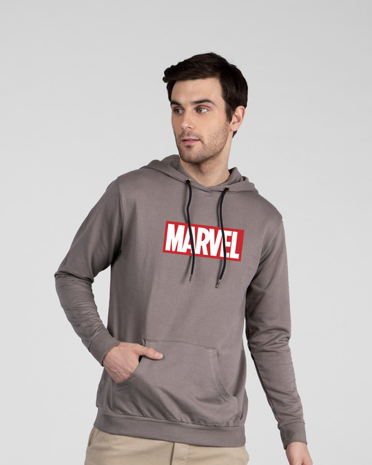 Shop Marvel Logo Ver 2 Fleece Hoodie (AVL)-Front
