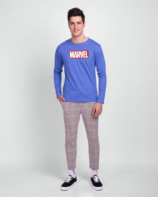 Shop Marvel Logo Ver 2 Full Sleeve T-Shirt (AVL)-Design