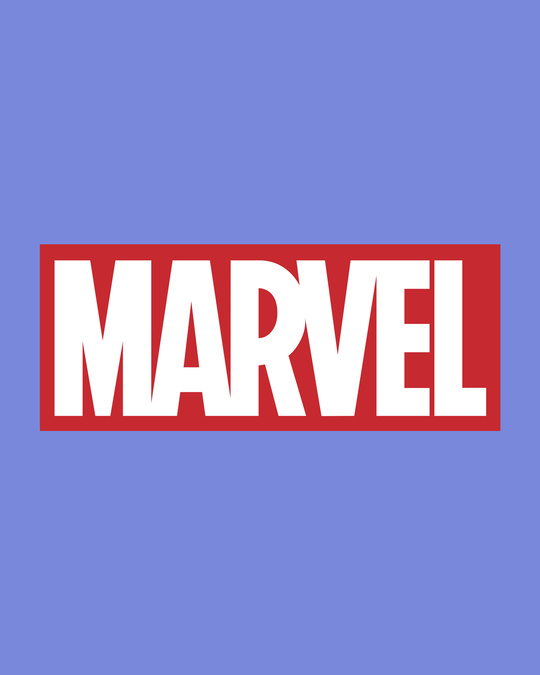 Shop Marvel Logo Ver 2 Half Sleeve T-Shirt (AVL)-Full