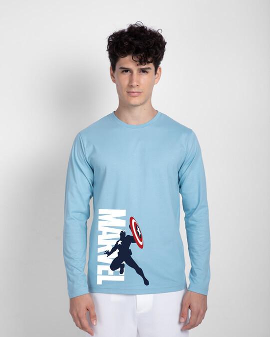 Shop Marvel's Captain America Full Sleeve T-Shirt (AVL)-Front