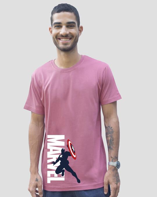 Shop Marvel's Captain America Half Sleeve T-Shirt (AVL)-Front