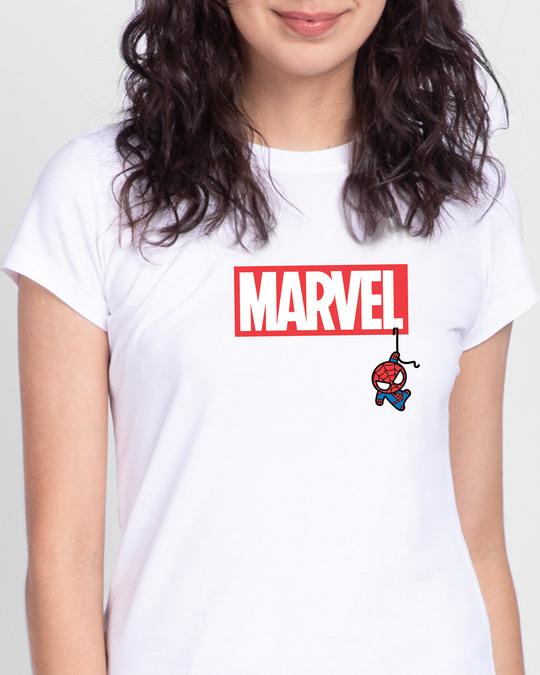 Shop Marvel Spidey Half Sleeve T-Shirts (FFHL)-Front