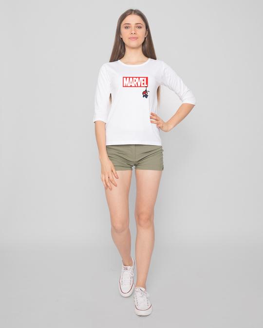 Shop Marvel Spidey Round Neck 3/4 Sleeve T-Shirts (FFHL)-Design