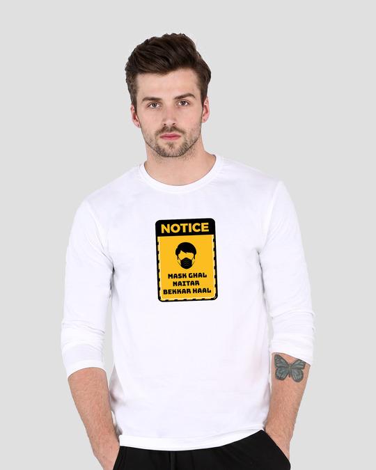 Shop Mask Ghal Full Sleeve T-Shirt-Back