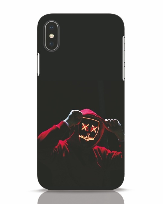Shop Mask Man iPhone X Mobile Cover-Front