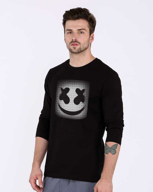 Shop Mask Of Marshmello Full Sleeve T-Shirt-Back