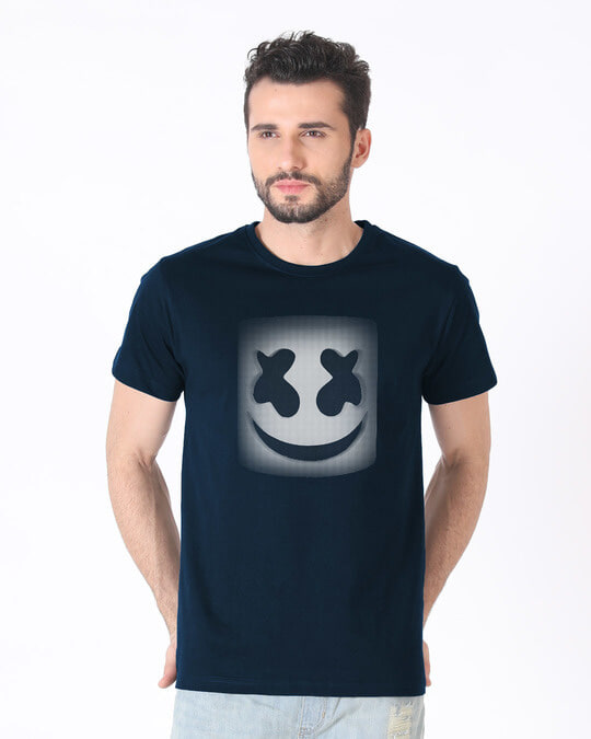 Shop Mask Of Marshmello Half Sleeve T-Shirt-Back